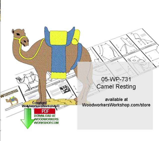 Camel Standing Downloadable Yard Art Woodcrafting Pattern