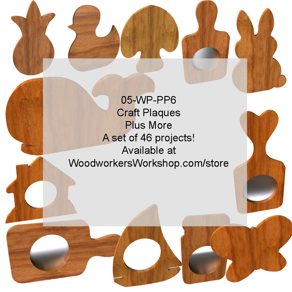 Craft Plaques Plus More Set of 46 Woodworking Patterns