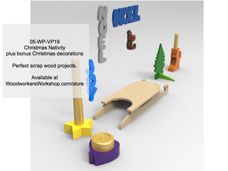 05-WP-VP19 - Christmas Nativity Centerpiece and Decorations Woodworking plans
