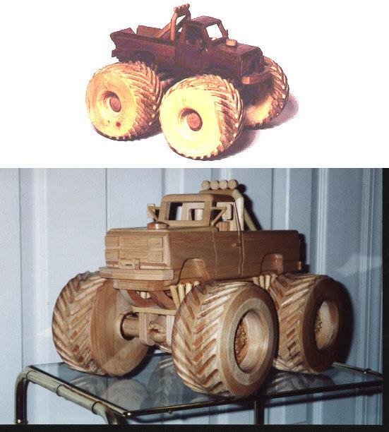 Wooden Monster Truck Plans