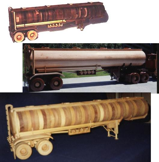Construction Equipment - Oval Tanker Woodworking Plan