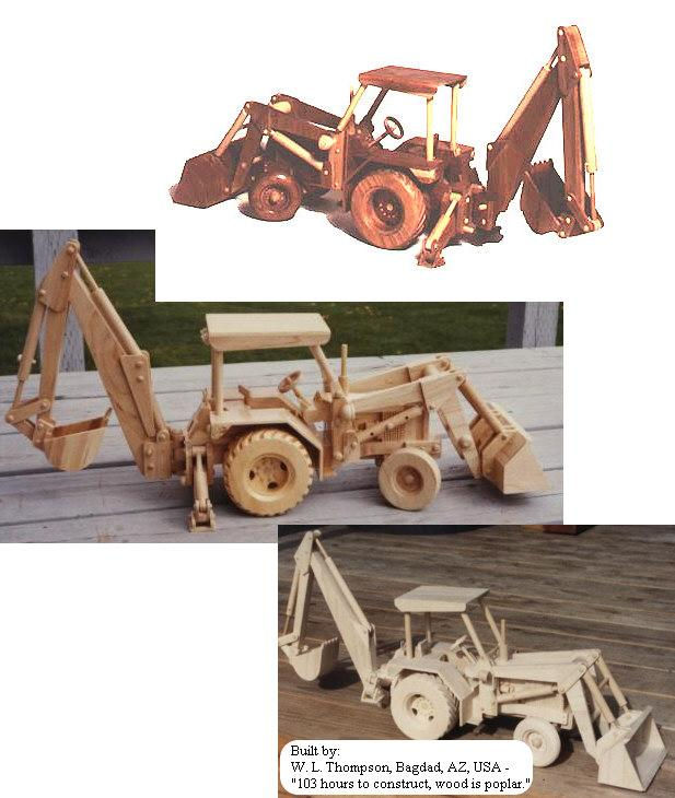 Construction Equipment - Backhoe - Loader Woodworking Plan.