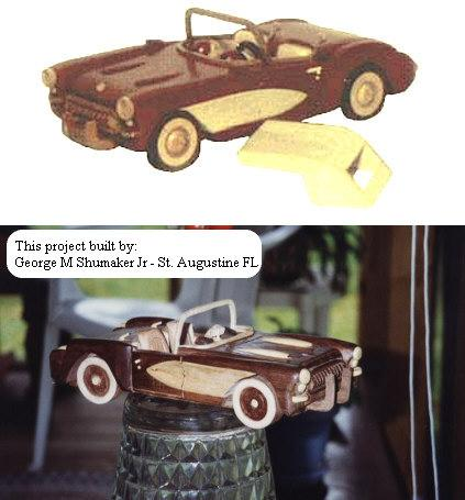 Classic Sports Car Woodworking Plan