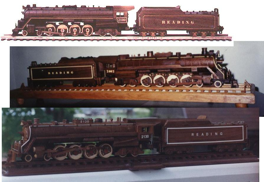 Reading Line (T-1) Steam Locomotive Train Woodworking Plan