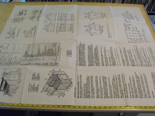 Contemporary Shed Construction Plan.