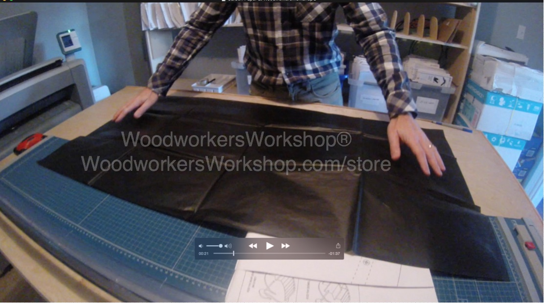 PLYWOOD SIZE COVERAGE Transfer Paper 5 sheet pkg - Reuseable