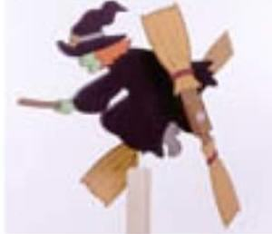 Witch Whirligig Woodworking Plan
