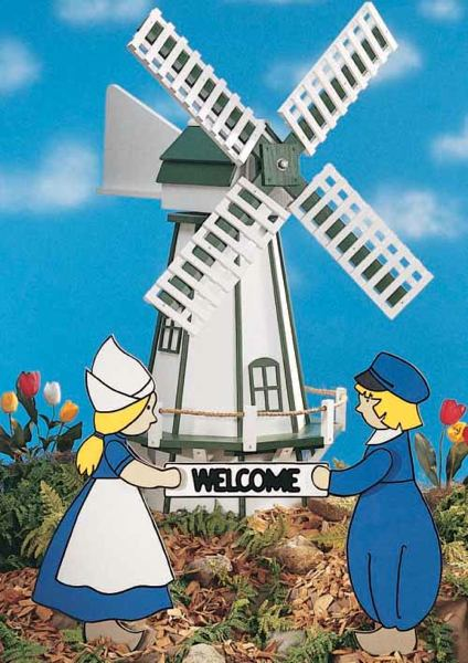 19-W1350 - Dutch Windmill Woodworking Plan.