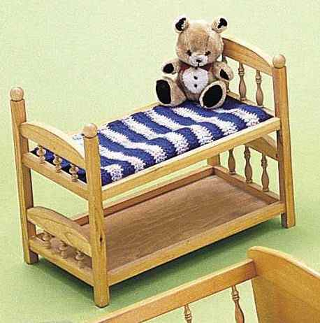 Doll Bunkbed Woodworking Plan.