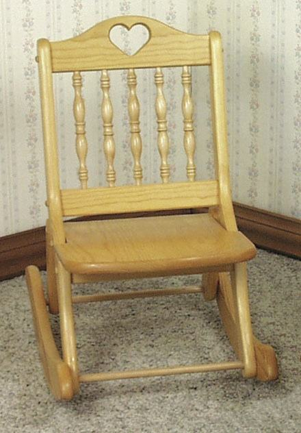 Folding Rocking Chair Woodworking Plan - for 3 to 5 yr olds.