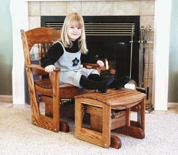 Glider Ottoman Woodworking Plan for Adult.