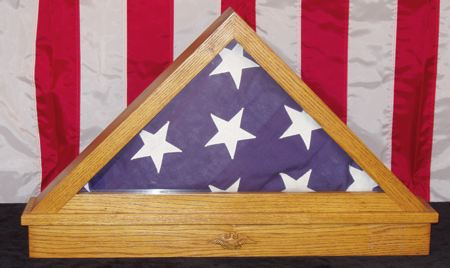 19-W2426 - American Flag Triangle Display Box Woodworking Plan