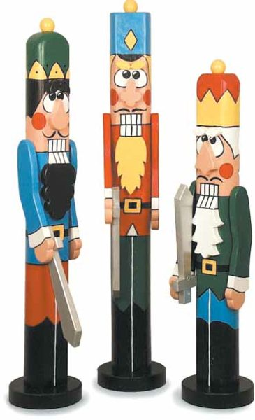 19-W2586 - Christmas Nutcrackers Post People Woodworking Plan Set - 3 plans included.