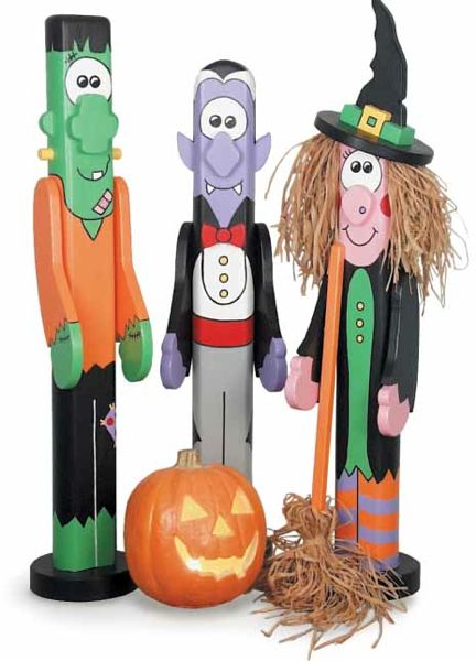 Halloween Post People Woodworking Plan Set - 3 plans included.