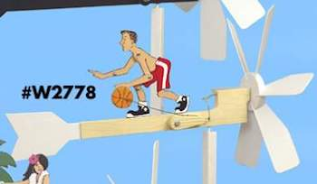 Basketball Player Dribbling Woodworking Plan.