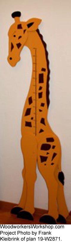 Giraffe Growth Chart Woodworking Plan Woodworkersworkshop