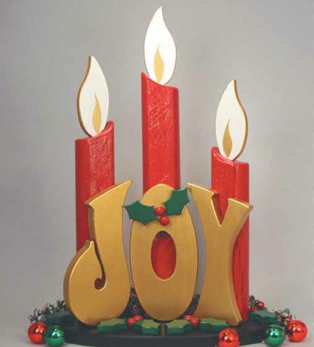 Joy Post Candles Woodworking Plan.