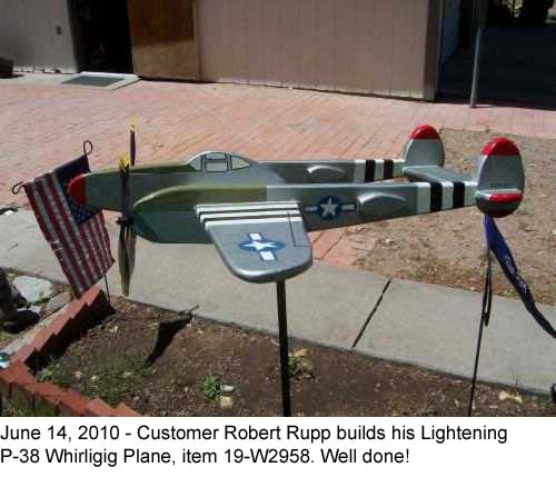 P-38 Lightening Airplane Windmill Whirligig Woodworking Plan