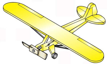 19-W2972 - Piper Cub/Champ P40-C Weathervane Whirligig Woodworking Plan