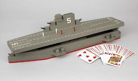 Aircraft Carrier Cribbage Woodworking Plan.
