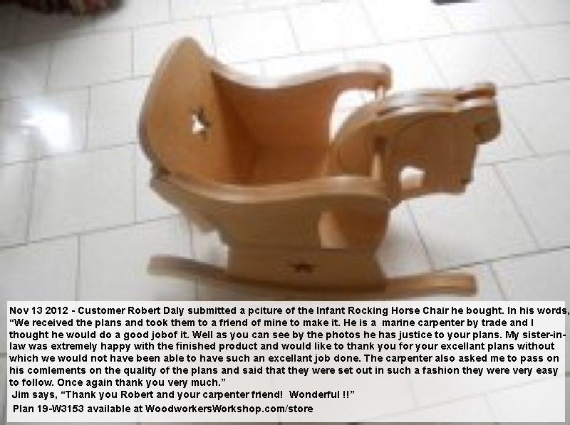 Infant Rocking Horse Chair Woodworking Plan.