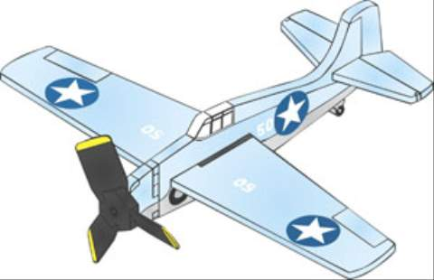 F4F Wildcat 3 Blade Single Engine Whirligig Woodworking Plan woodworking plan