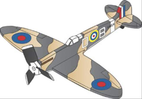 Supermarine Spitfire 3 Blade Single Engine Whirligig Woodworking Plan