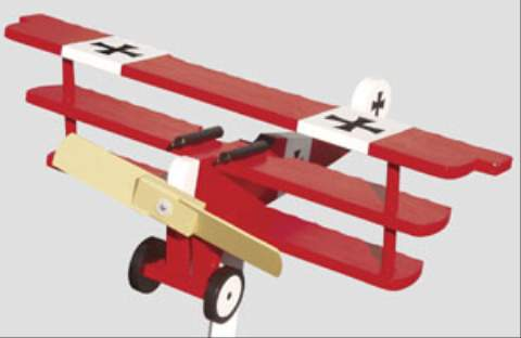Fokker Dr. 1 2 Blade Single Engine Whirligig Woodworking Plan woodworking plan