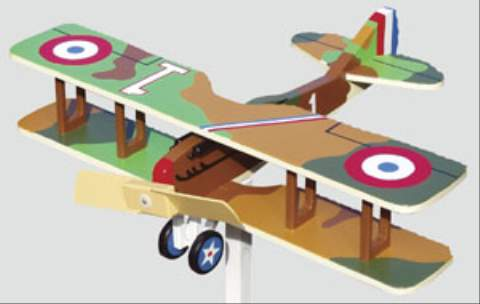 SPAD XIII 2 Blade Single Engine Whirligig Woodworking Plan