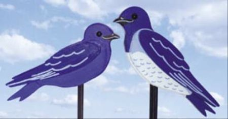 19-W3271 - Purple Martins Garden Polk Woodworking Plan