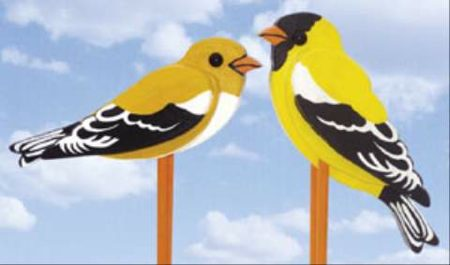 19-W3273 - American Goldfinches Woodworking Plan