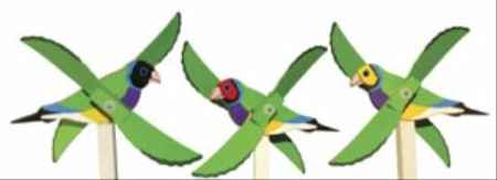 19-W3278 - Tropical Finch Whirligig Woodworking Plan