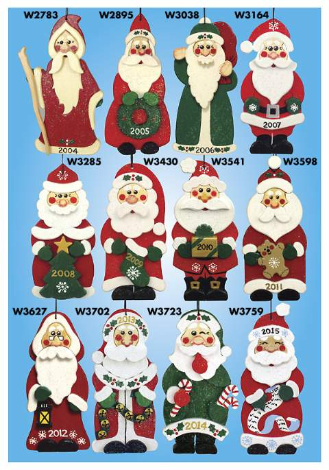 Santa Collector Ornament Woodworking Plan