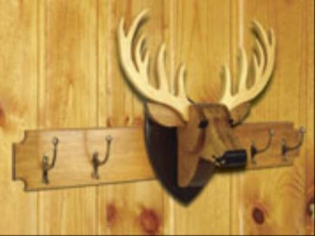 Deer Coat Rack and Trophy Woodworking Plan Set- 2 plans included.
