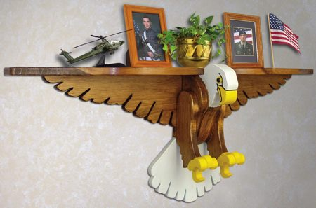 19-W3296 - Eagle Shelf Woodworking Plan