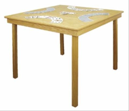 Folding Game Table Woodworking Plan.