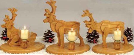Reindeer Candles Woodworking Plan Woodworkersworkshop