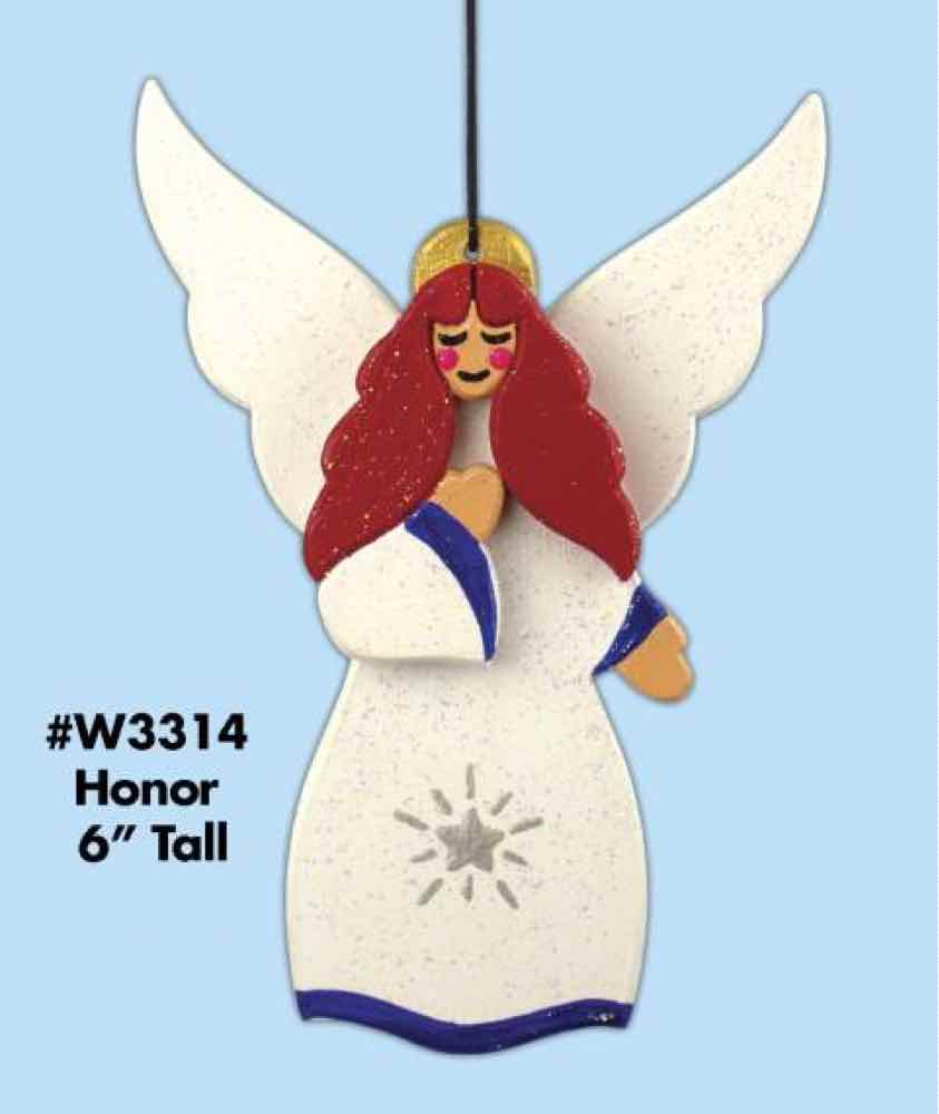 Honor Angel Scrollsaw Ornament.