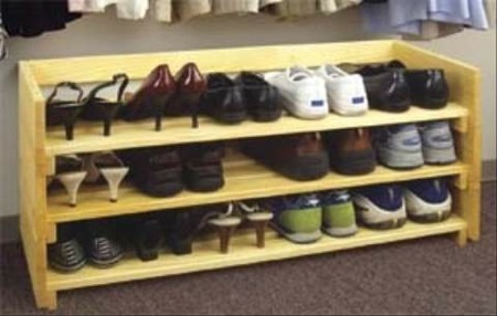 shoe rack construction plans