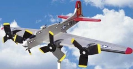 19-W3333 - B-17G Flying Fortress Airplane Whirligig Woodworking Plan