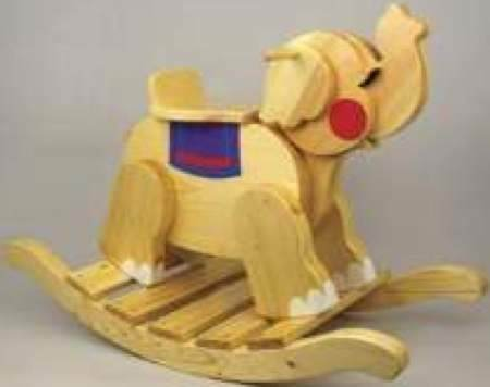 19-W3356 - Elephant Rocker Woodworking Plan.