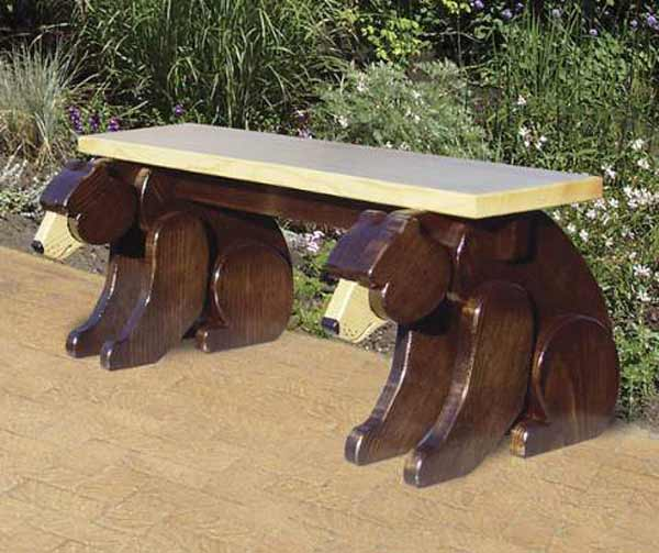 Black Bear Bench Woodworking Plan.