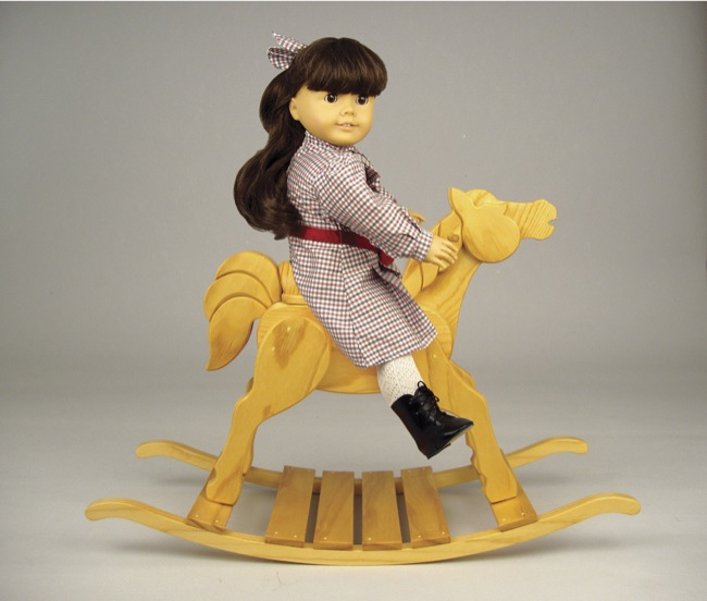 19-W3425 - Doll Rocking Horse Woodworking Plan.