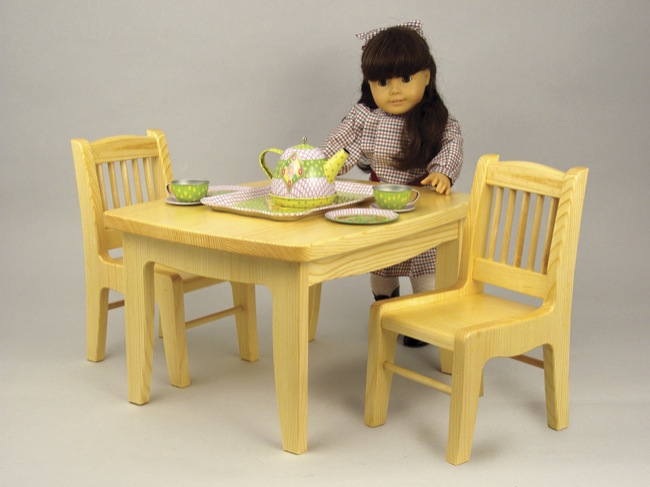 Doll Tea Table and Chair Woodworking Plan.