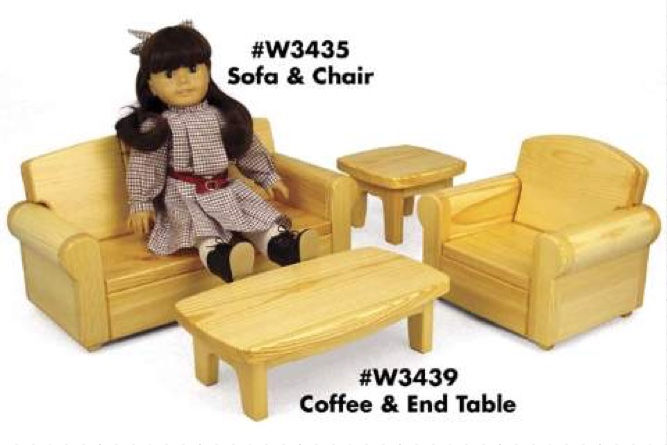 Doll Sofa and Doll Chair Woodworking Plan