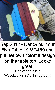 Folding Fish Table Woodworking Plan.