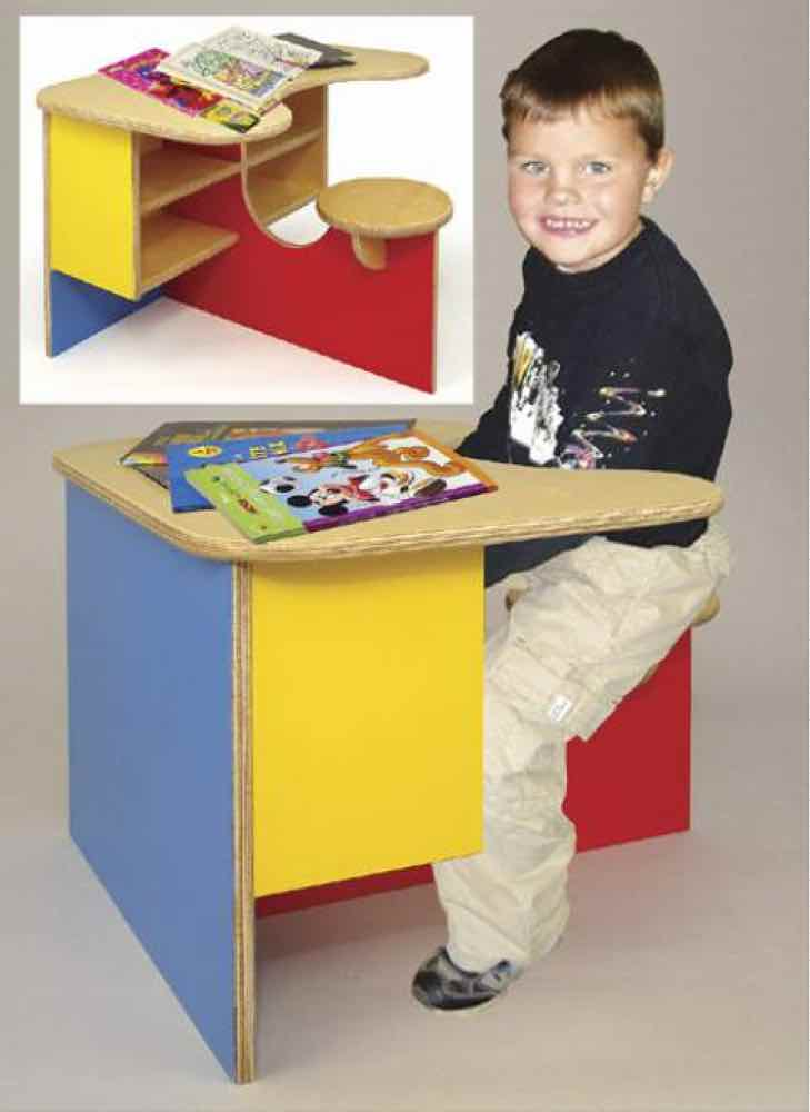 19-W3463 - Little School Desk Woodworking Plan