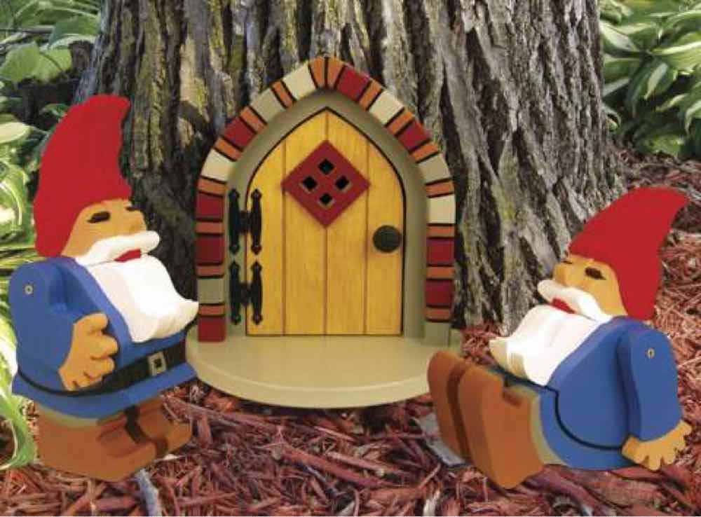 19-W3490 - Garden Gnome and Tree Door Woodworking Plan