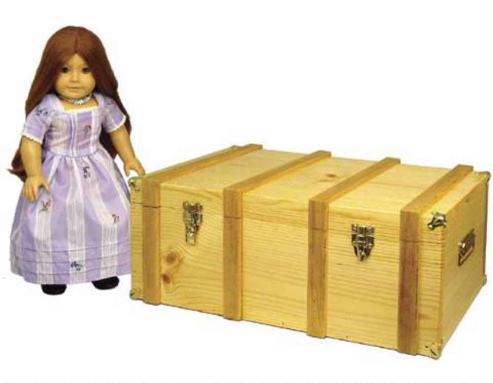Doll Steamer Trunk Furniture Woodworking Plan.