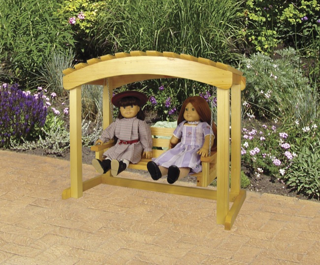 19-W3502 - Doll Arbor Swing Woodworking Plan.
